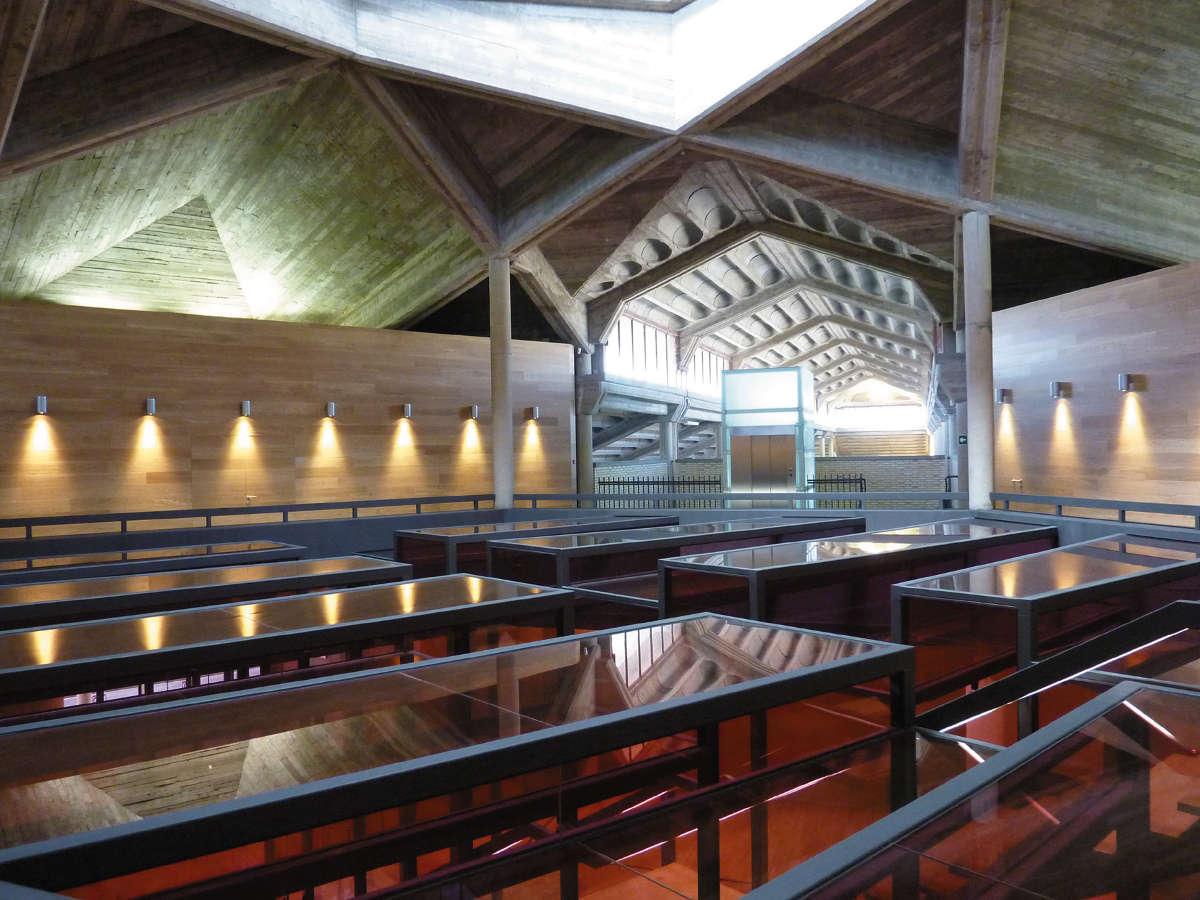 Bodegas Olarra, techos de hormigón