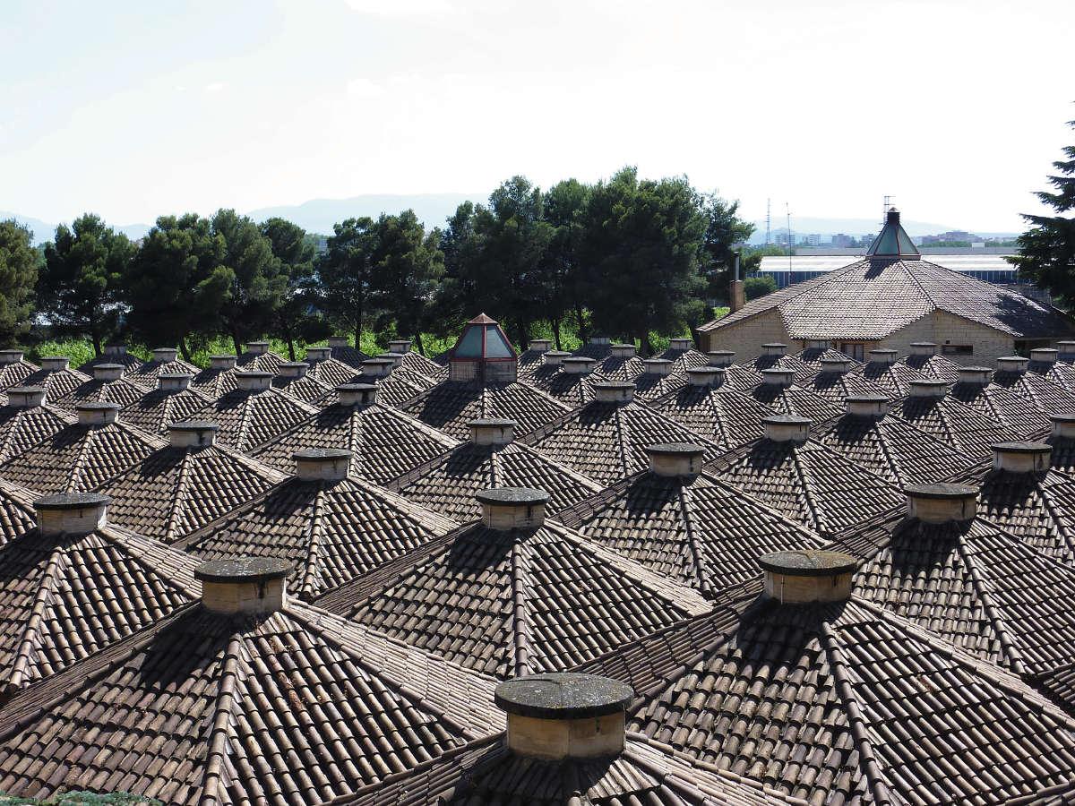 Bodegas Olarra, tejados