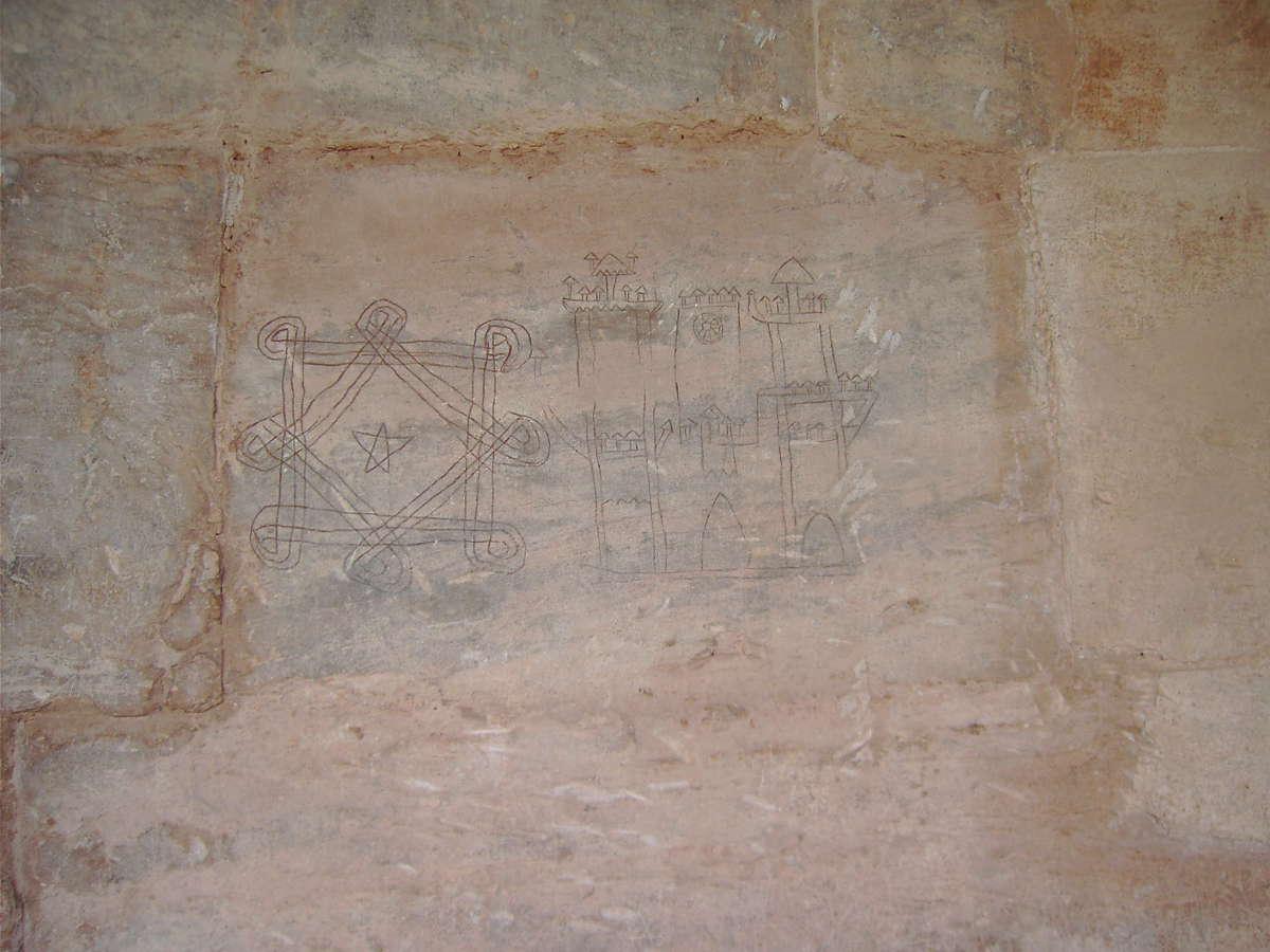 Monasterio de Suso, grafitis medievales. © María Mena Miguel